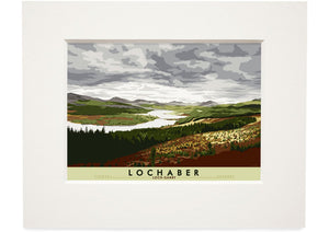 Lochaber: Loch Garry – small mounted print