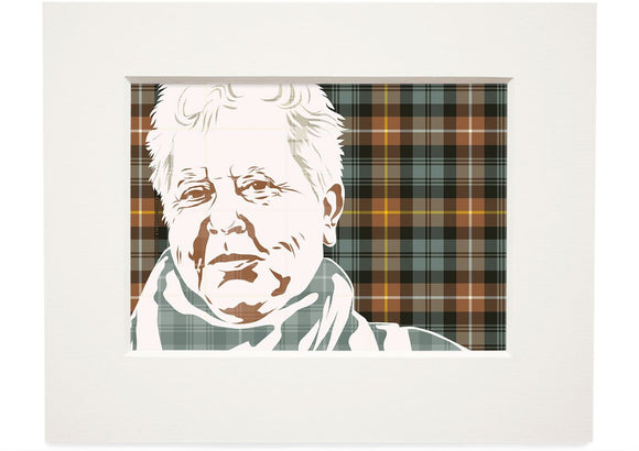 Val McDermid on Campbell of Argyll weathered tartan – small mounted print - Indy Prints by Stewart Bremner