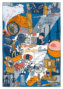 The Inventive Scots – poster - Indy Prints by Stewart Bremner