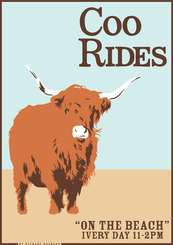 Coo rides – poster - Indy Prints by Stewart Bremner