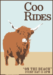 Coo rides – giclée print - Indy Prints by Stewart Bremner