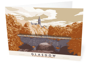 Glasgow: River Kelvin & the University – card