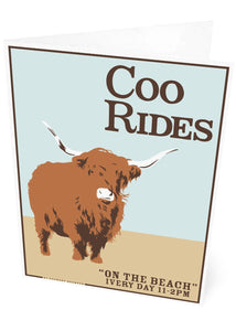 Coo rides – card - Indy Prints by Stewart Bremner