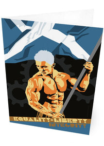 Equality, liberty, integrity – card - Indy Prints by Stewart Bremner