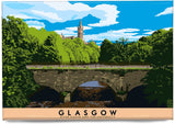 Glasgow: River Kelvin & the University – magnet - natural - Indy Prints by Stewart Bremner