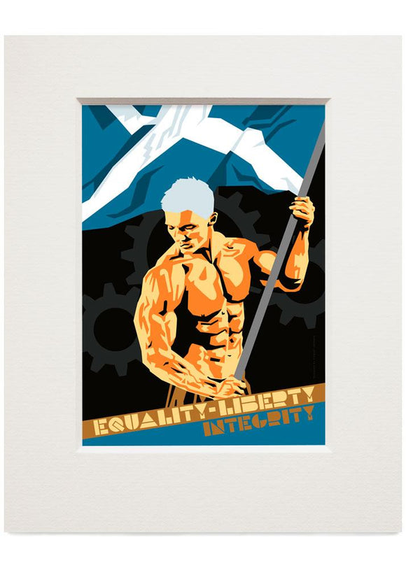 Equality, liberty, integrity – small mounted print - Indy Prints by Stewart Bremner