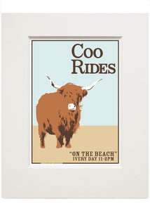 Coo rides – small mounted print - Indy Prints by Stewart Bremner