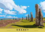 Orkney: Ring of Brodgar – poster - natural - Indy Prints by Stewart Bremner