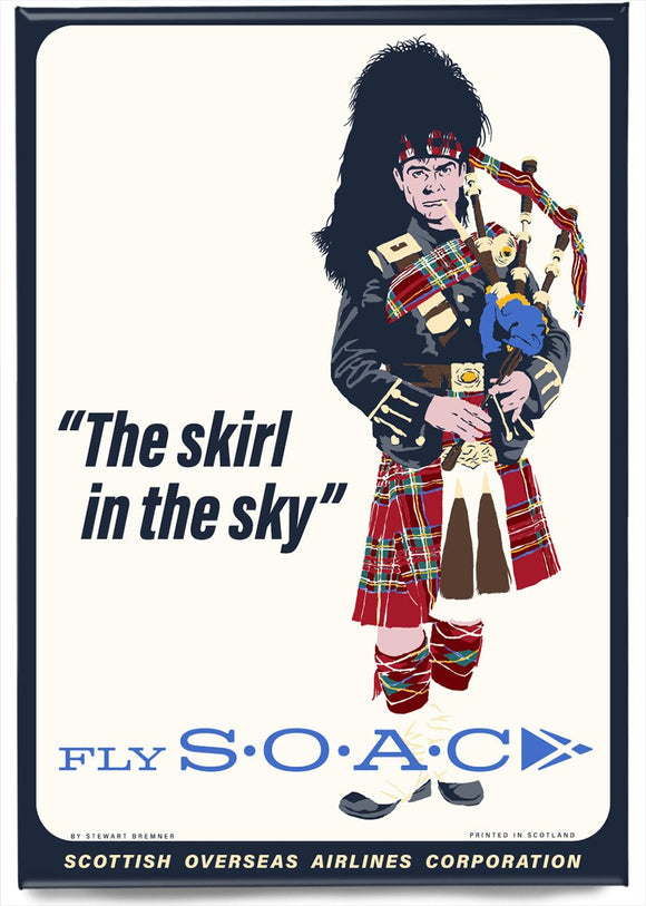 Fly SOAC – magnet - Indy Prints by Stewart Bremner