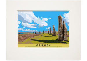 Orkney: Ring of Brodgar – small mounted print