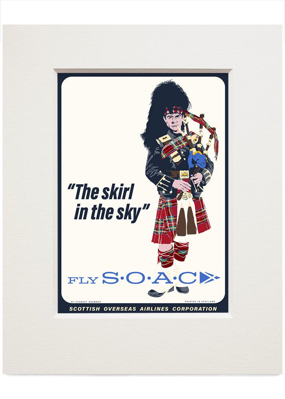 Fly SOAC – small mounted print - Indy Prints by Stewart Bremner