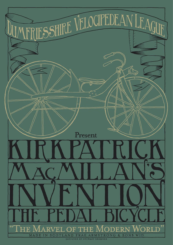 MacMillan's bicycle – poster - Indy Prints by Stewart Bremner