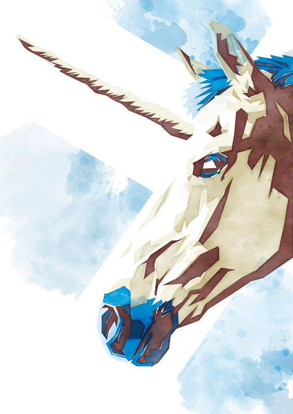 The Scottish unicorn – giclée print - Indy Prints by Stewart Bremner