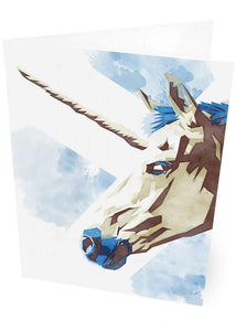 The Scottish unicorn – card - Indy Prints by Stewart Bremner