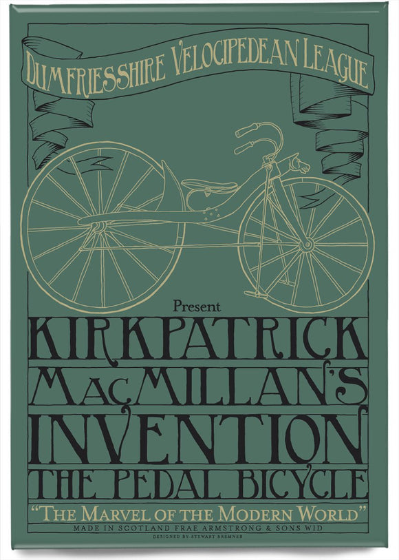 MacMillan's bicycle – magnet - Indy Prints by Stewart Bremner