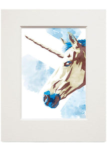 The Scottish unicorn – small mounted print - Indy Prints by Stewart Bremner