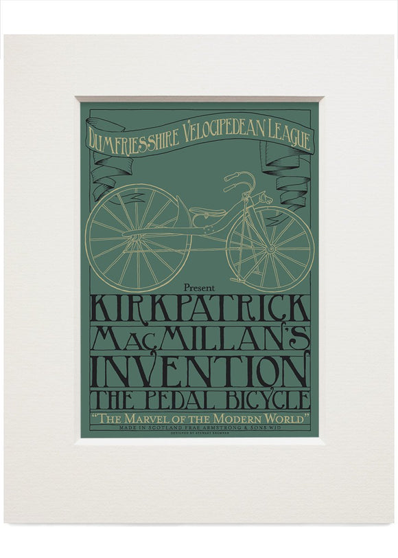 MacMillan's bicycle – small mounted print - Indy Prints by Stewart Bremner