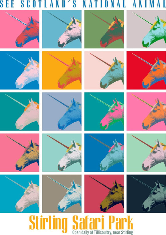 Unicorn safari – giclée print - Indy Prints by Stewart Bremner