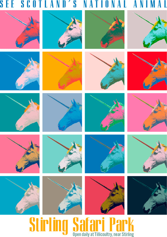 Unicorn safari – poster - Indy Prints by Stewart Bremner