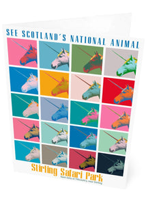 Unicorn safari – card - Indy Prints by Stewart Bremner