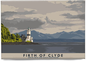 Firth of Clyde: Arran, Bute and Cloch Lighthouse – magnet