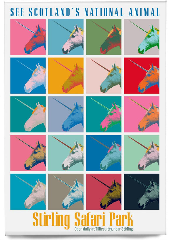 Unicorn safari – magnet - Indy Prints by Stewart Bremner