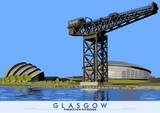Glasgow: Finnieston Riverside – poster - natural - Indy Prints by Stewart Bremner