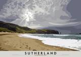 Sutherland: Sandwood Bay – poster - natural - Indy Prints by Stewart Bremner