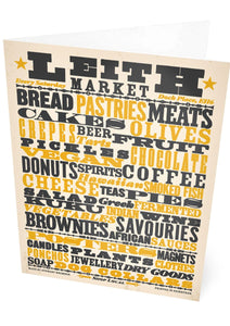 Leith market – card - Indy Prints by Stewart Bremner