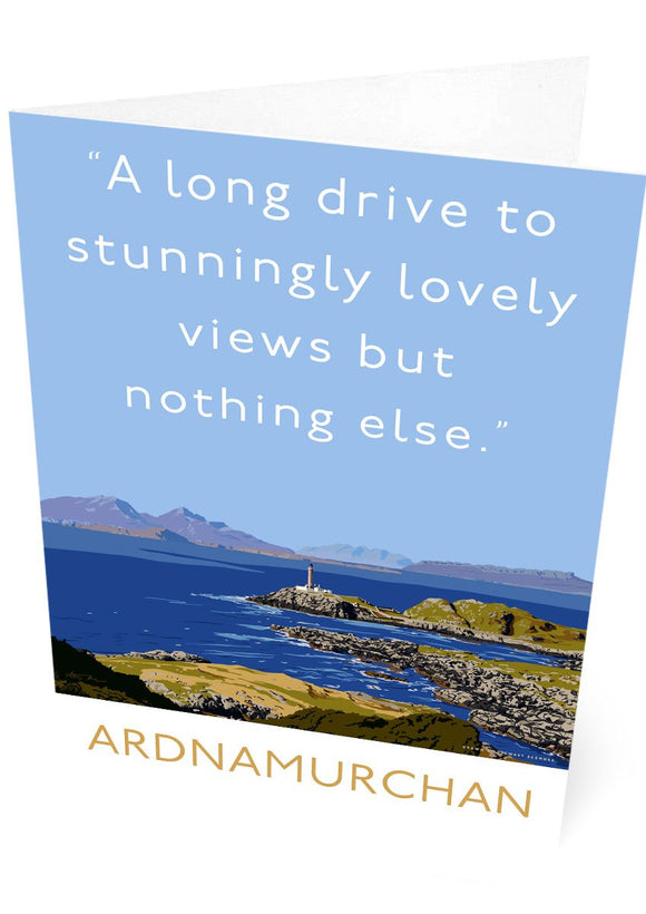 A long drive to Ardnamurchan – card