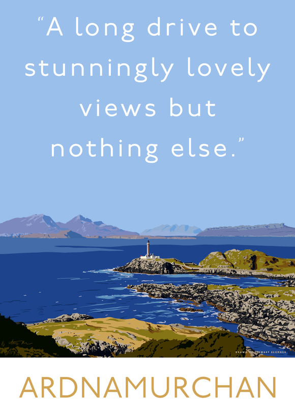A long drive to Ardnamurchan – poster