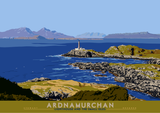 Ardnamurchan: Lighthouse and the Small Isles – poster - natural - Indy Prints by Stewart Bremner