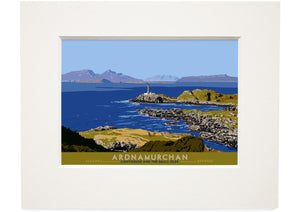 Ardnamurchan: Lighthouse and the Small Isles – small mounted print