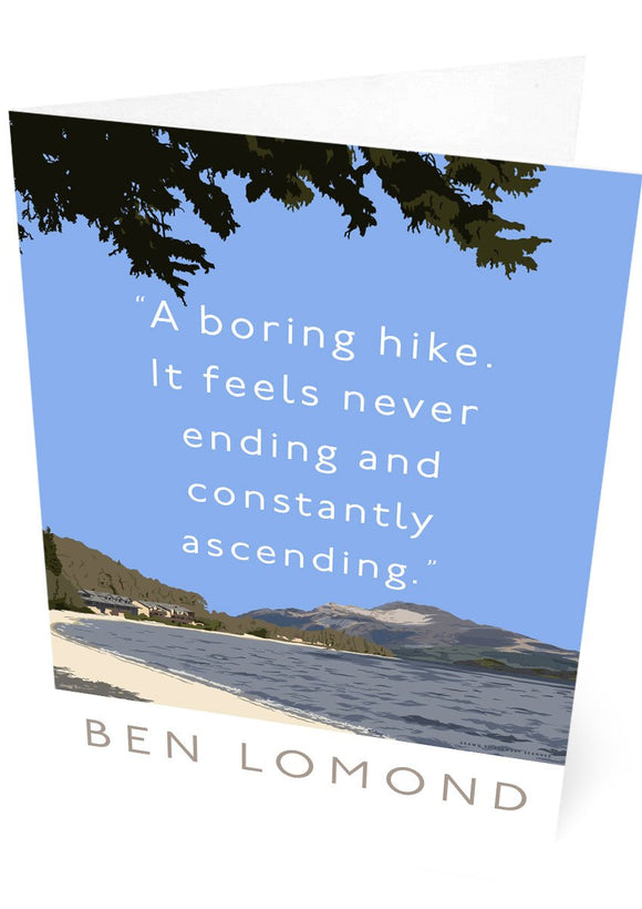 Ben Lomond is a boring hike – card