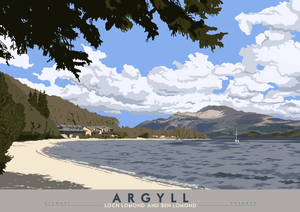 Argyll: Loch Lomond and Ben Lomond – poster
