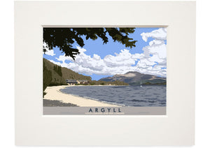 Argyll: Loch Lomond and Ben Lomond – small mounted print