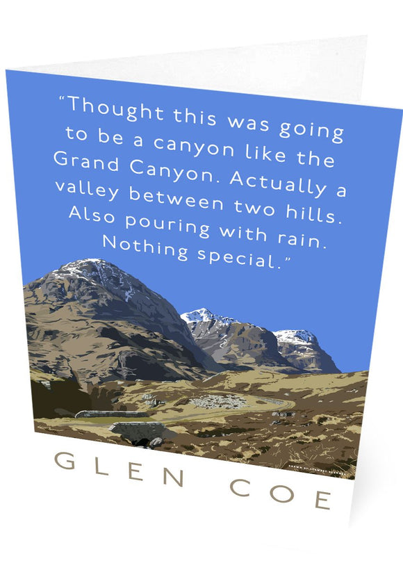 Glen Coe is actually a valley – card