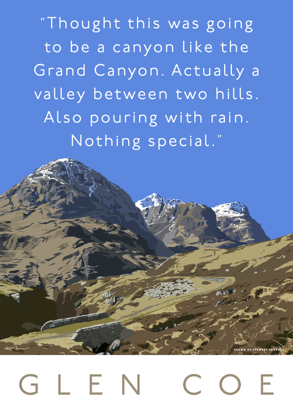Glen Coe is actually a valley – giclée print