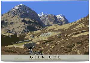 Glen Coe: the Three Sisters and the Old Road – magnet