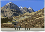 Glen Coe: the Three Sisters and the Old Road – magnet - natural - Indy Prints by Stewart Bremner