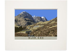 Glen Coe: the Three Sisters and the Old Road – small mounted print