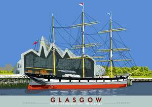 Glasgow: Riverside Museum and the Glenlee – giclée print