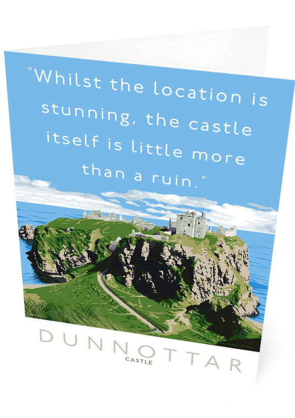 Dunnottar Castle is a ruin – card
