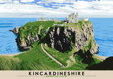 Kincardineshire: Dunnottar Castle – giclée print - natural - Indy Prints by Stewart Bremner