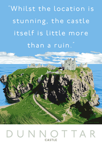 Dunnottar Castle is a ruin – poster