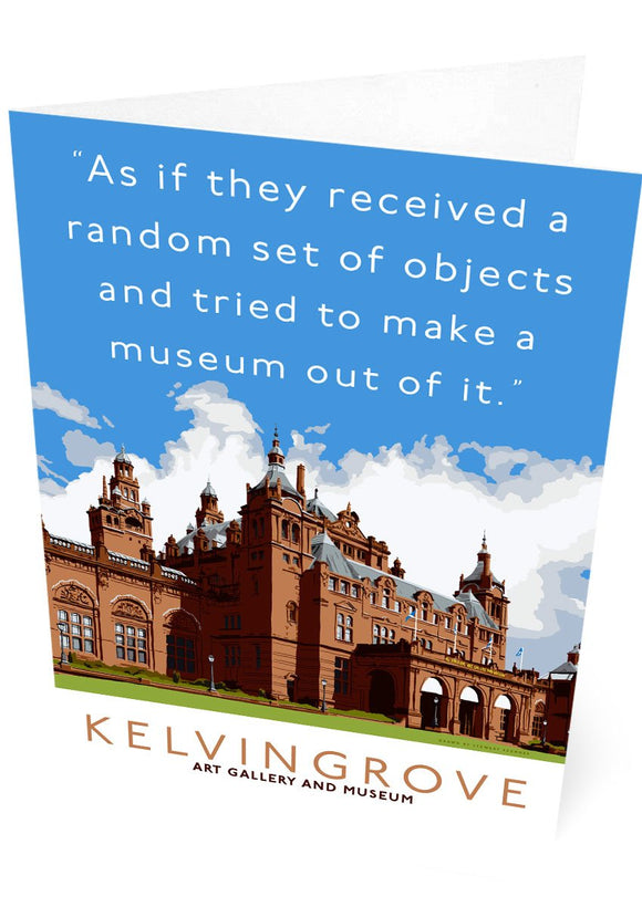 The random objects of Kelvingrove – card