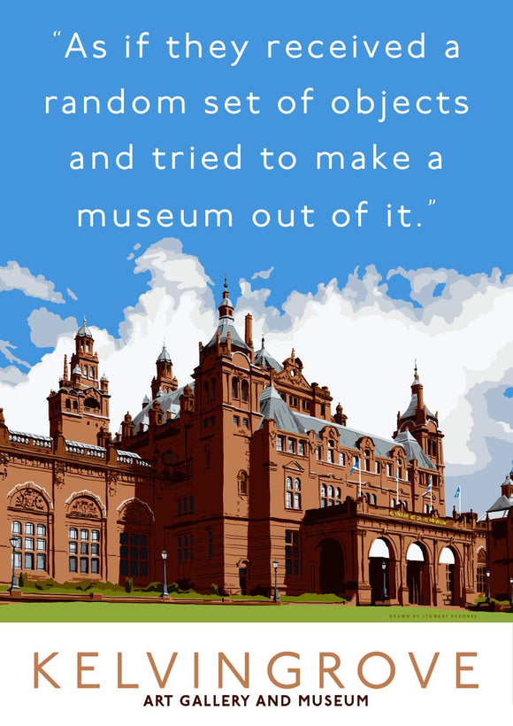 The random objects of Kelvingrove – poster