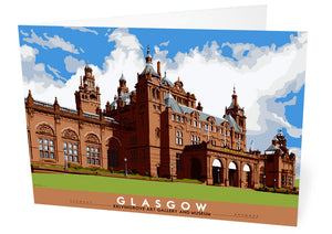 Glasgow: Kelvingrove Art Gallery and Museum – card - Indy Prints by Stewart Bremner