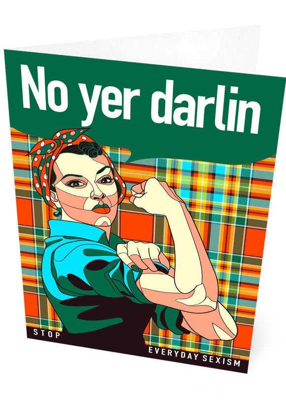 No yer darlin – card