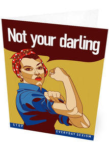 Not your darling – card - Indy Prints by Stewart Bremner